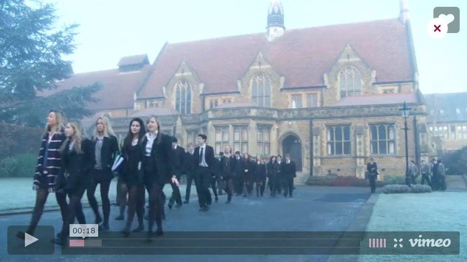 Screenshot of a Charterhouse School video